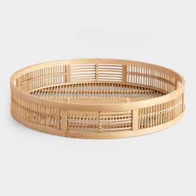 Round Natural Bamboo Tray by World Market - World Market/Cost Plus