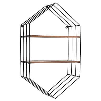 Wood and Wire Hexagon Wall Bookcase - Pottery Barn Teen