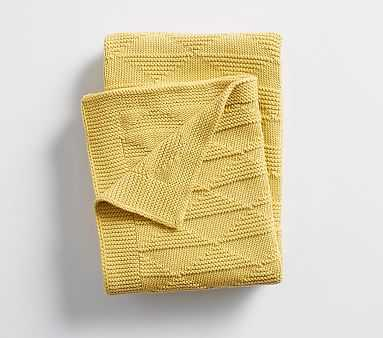 Triangle Knit Baby Blanket , Yellow - Pottery Barn Kids