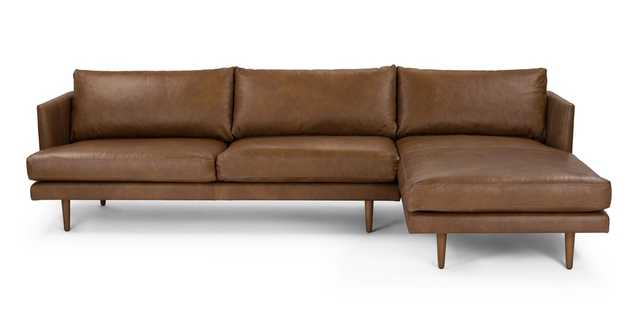 Burrard Bella Tan Right Sectional Sofa - Article