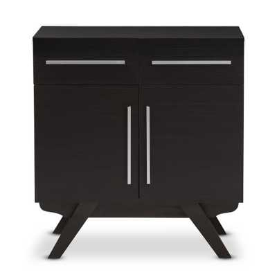 Ashfield Dark Brown Sideboard - Home Depot