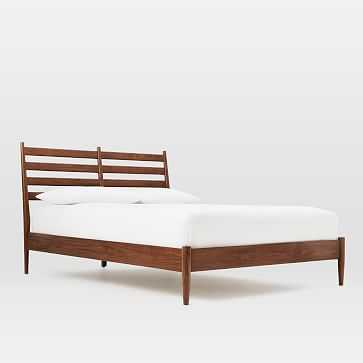 Arne Bed- Queen, Walnut - West Elm