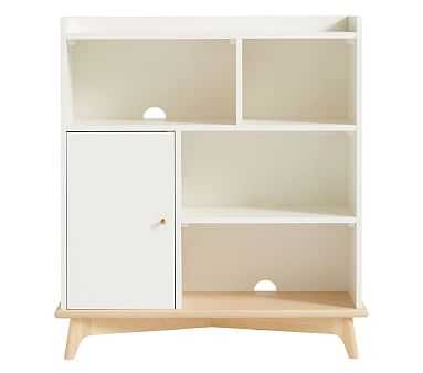 Sloan Storage Bookcase, Simply White/Natural, Standard UPS Delivery - Pottery Barn Kids