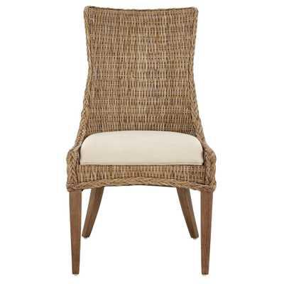 Genie Grey Kubu Wicker Dining Chair (Set of 2), Gray - Home Depot