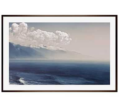 "Big Sur Blue Framed Print by Cindy Taylor, 42 x 28"", Wood Gallery Frame, Espresso, No Mat - Pottery Barn"