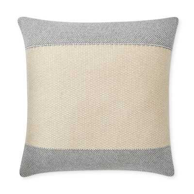 """Brinley Wool Knit Pillow Cover, 22"""" X 22"""", Charcoal/Taupe - Williams Sonoma"""