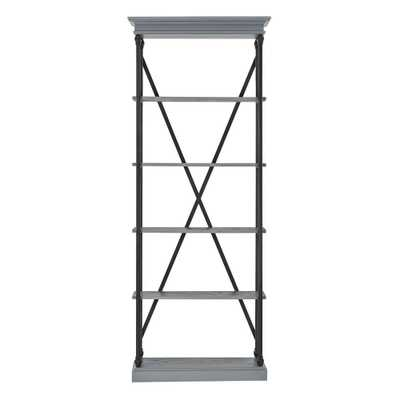 Manor Drive Grey Open Bookcase - Home Depot
