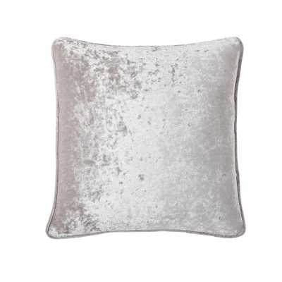 Morgan Home 18 in. Chloe Grey Velvet Throw Pillow Cover - Home Depot