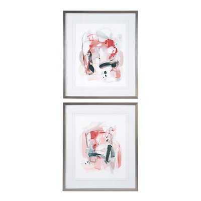 'Soft Speak' 2 Piece Framed Print Set - Wayfair