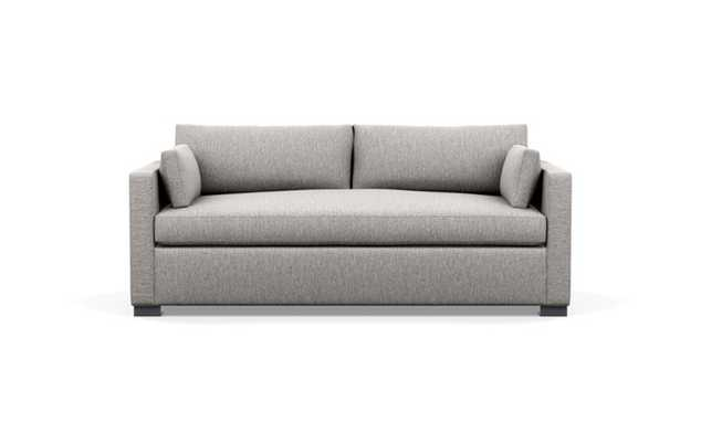 Charly Sofa with Earth Fabric, Painted Black legs, and Bench Cushion - Interior Define