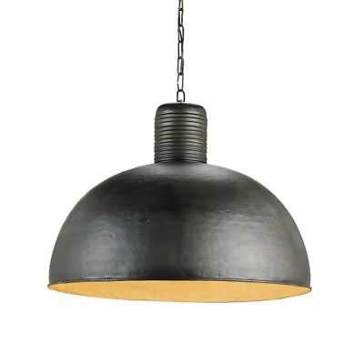 Currey and Company 9781 Saga 1-Light Pendant with Wrought Iron Bowl Shade - eBay
