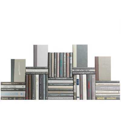 Authentic Decorative Books - By Color Modern Marble Book Wall, Set of 50 (5 Linear Feet) - Wayfair
