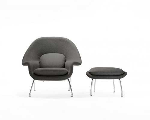 Womb Chair And Ottoman - Fossil - Rove Concepts