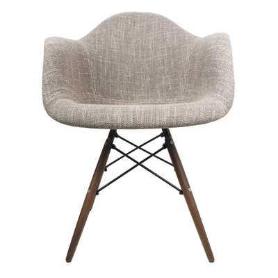 Armchair- Walnut- Woven Brown - Wayfair