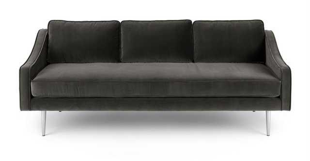 Mirage Shadow Gray Sofa - Article