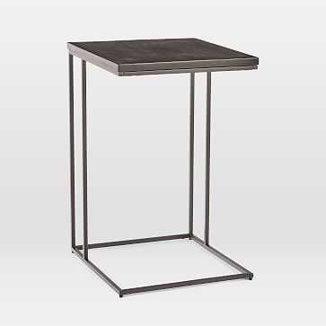 Streamline C-Side Table, Black, Antique Bronze - West Elm
