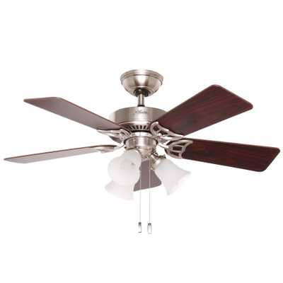 Hunter Southern Breeze 42 in. Indoor Brushed Nickel Ceiling Fan - Home Depot