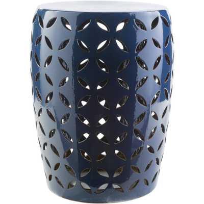 Araceli Cobalt (Blue) Garden Stool - Home Depot