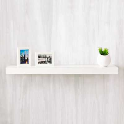 Positano 36 in. x 2 in. zBoard Paperboard Wall Shelf Decorative Floating Shelf in Natural White - Home Depot