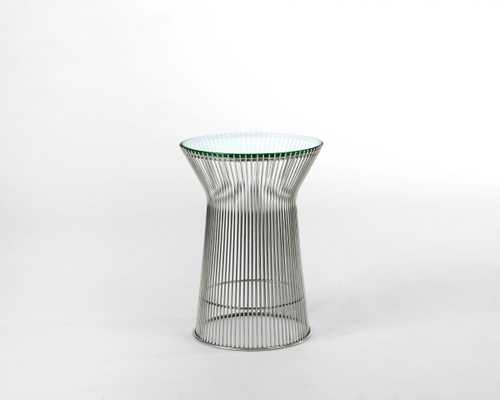 """Warren Side Table - 14.5"""""""" Glass Stainless Steel - Rove Concepts"""