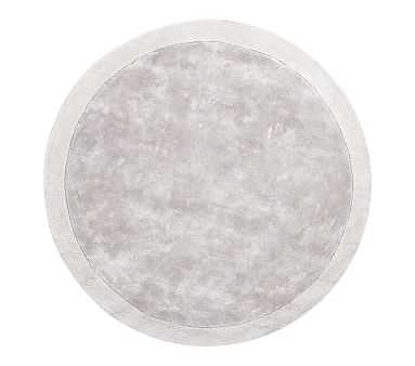 Reagan Round Rug, 5 Ft Round, Grey - Pottery Barn Kids