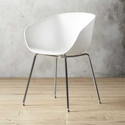 Poppy White Plastic Chair - CB2