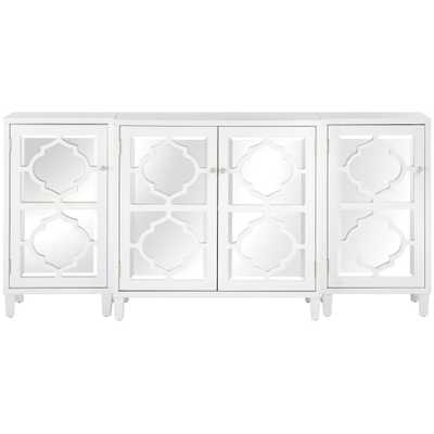 Reflections White Console Table - Home Depot