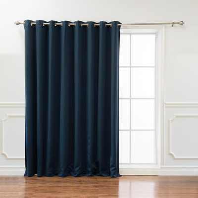 Best Home Fashion Wide Basic 100 in. W x 108 in. L Blackout Curtain in Navy (Blue) - Home Depot