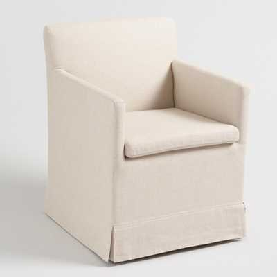 Natural Linen Elena Armchair with Casters by World Market - World Market/Cost Plus