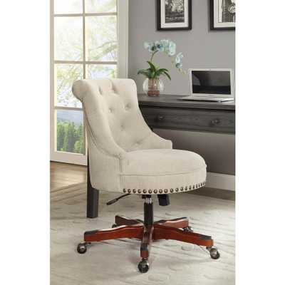 Sinclair Natural Polyester Office Chair, Brown/Brown - Home Depot