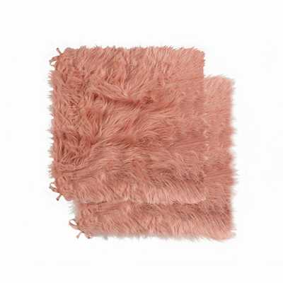 Lifestyle Group Laredo Dusty Rose Faux Sheepskin Fur Chair Pad (Set of 2) - Home Depot