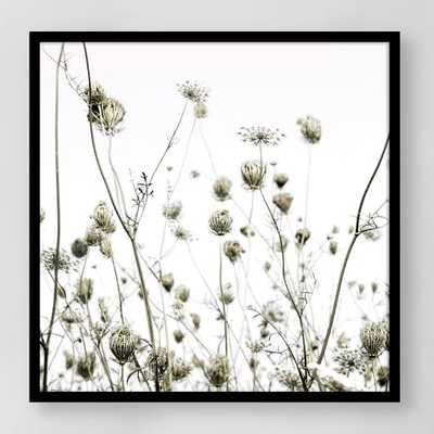 "Framed Print - Summer Silhouettes - 30""x30"" - Black Frame - West Elm"