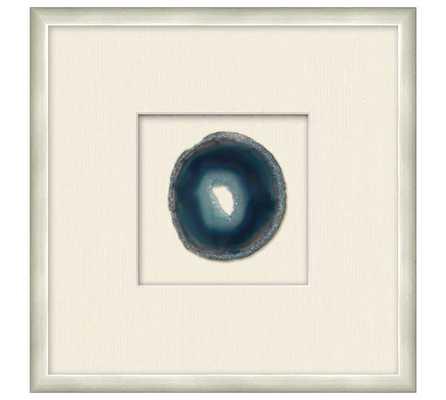 "Framed Agate Shadowbox - 13.25"" x 1.25"" x 13.25"" -Silver Frame - Pottery Barn"