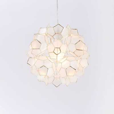 Capiz Flower Pendant - Small - West Elm
