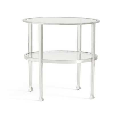 Tanner Round Side Table - Polished Nickel finish - Pottery Barn