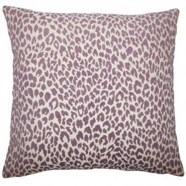 "Banagher Animal Print Pillow Orchid - 20"" x 20""-Polyester insert - Linen & Seam"