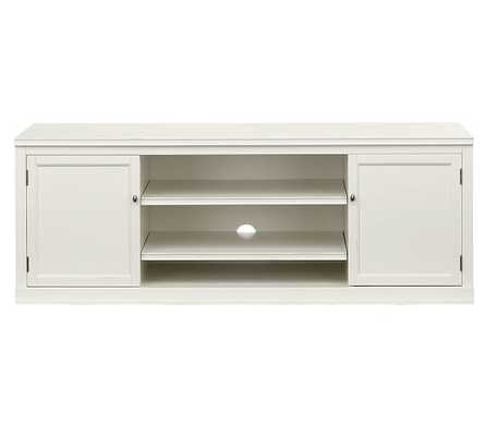 Logan Large TV Stand - Antique White - Pottery Barn