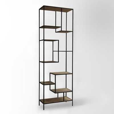Reclaimed Pine + Iron Bookcase - West Elm