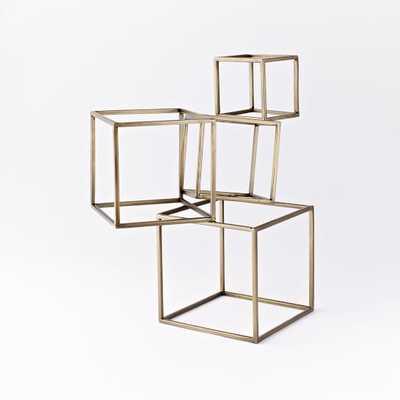Cubed Sculpture - Gold - West Elm