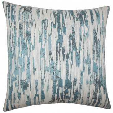 """Xanti Graphic Pillow River - 18"""" x 18""""- high-fiber polyester pillow insert - Linen & Seam"""