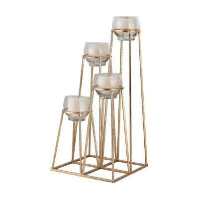 Skyline Cupped Tea Light Holder - Rosen Studio
