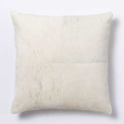 """Cowhide Solid Pillow Cover - 18""""sq - No insert - West Elm"""
