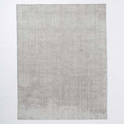 Hand-Loomed Shine Rug - Gray - West Elm