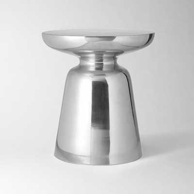 Martini Side Table - Silver - West Elm