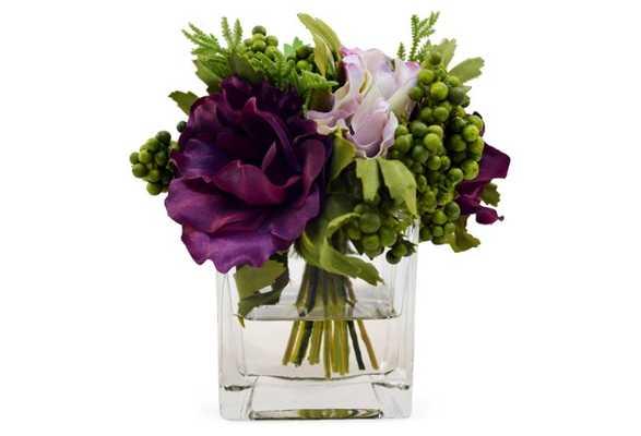 """7"""" Anemones in Vase, Faux - One Kings Lane"""