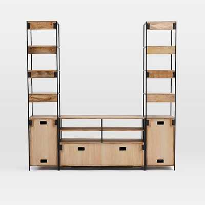 Industrial Modular Media Set w/ Open + Closed Storage - West Elm