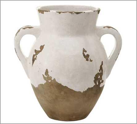 Tuscan Terra Cotta Vase - Medium Double-Handled Urn - Pottery Barn