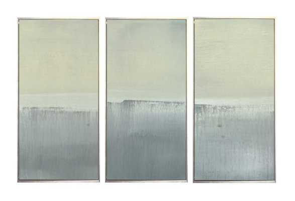 """Benson-Cobb, Seascape -  12"""" x 24"""" - Sterling Silver Frame- no mat - One Kings Lane"""