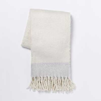 Cozy Texture Throw - Ivory - West Elm