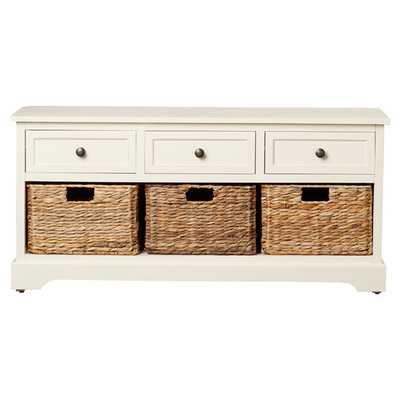 Layla Storage Bench - Ivory - Wayfair